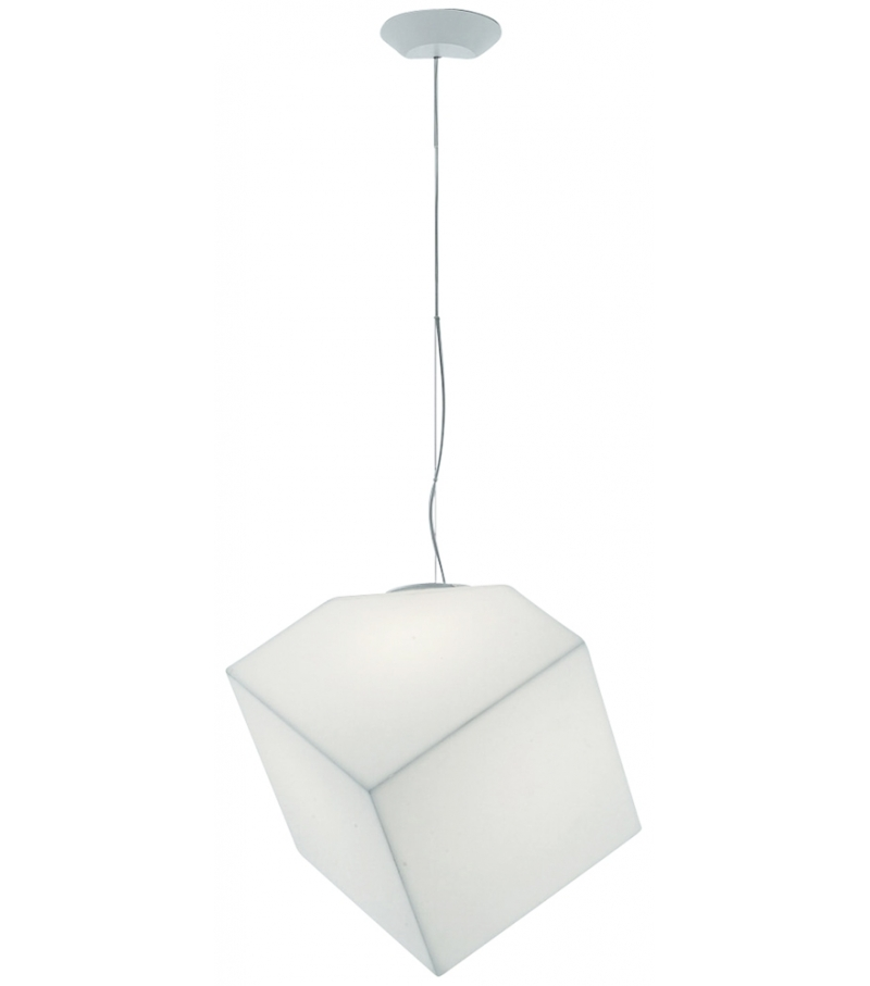 Edge Pendelleuchte 30 E27 23W TCT Diffusor in thermoplastischem Material: Weiβ
