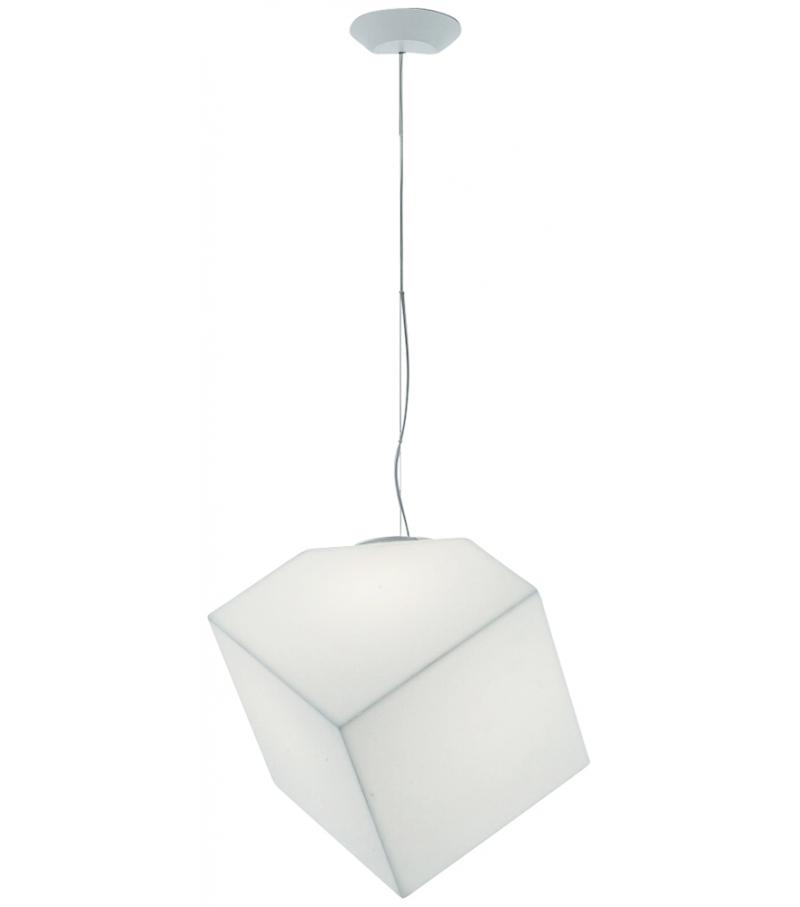 Edge Lámpara Colgante 30 E27 23W TCT Difusor en material termoplastico Blanco