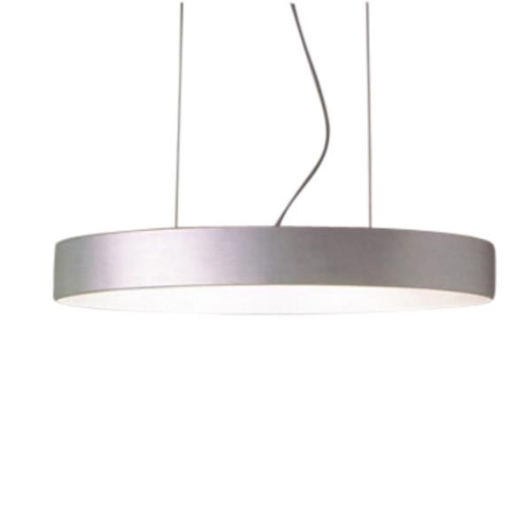 Hopper 80 Lámpara colgante 2x70cm E27 200xø80cm Plata