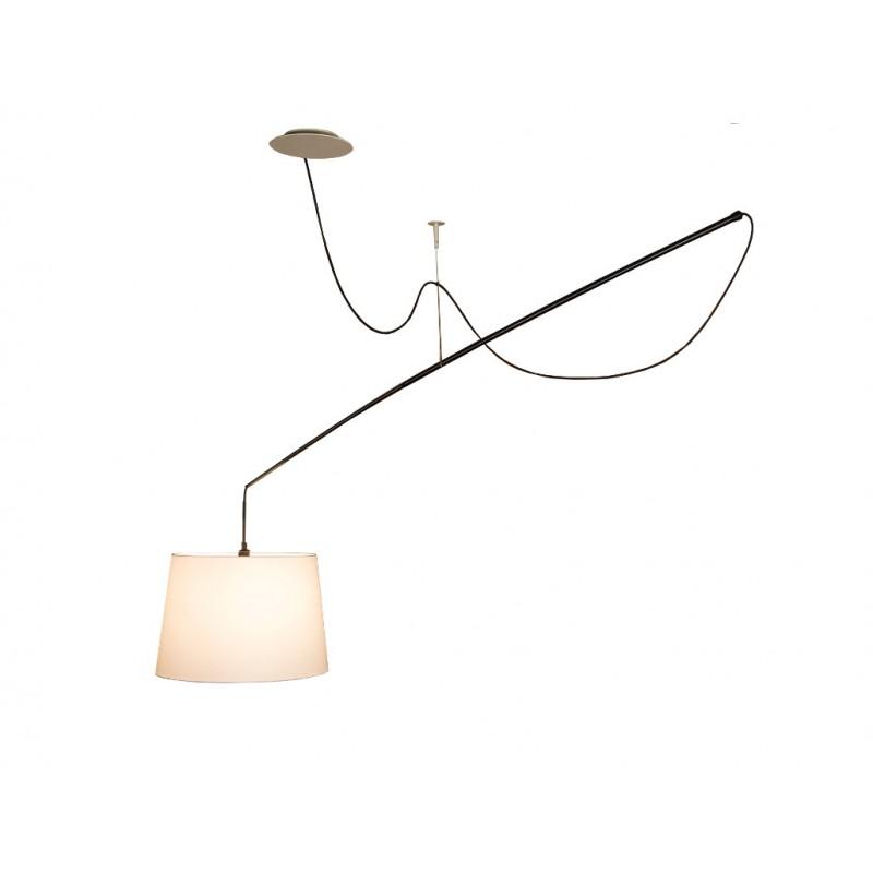 Robinson Pendant Lamp Small E27 150W Stone Grey