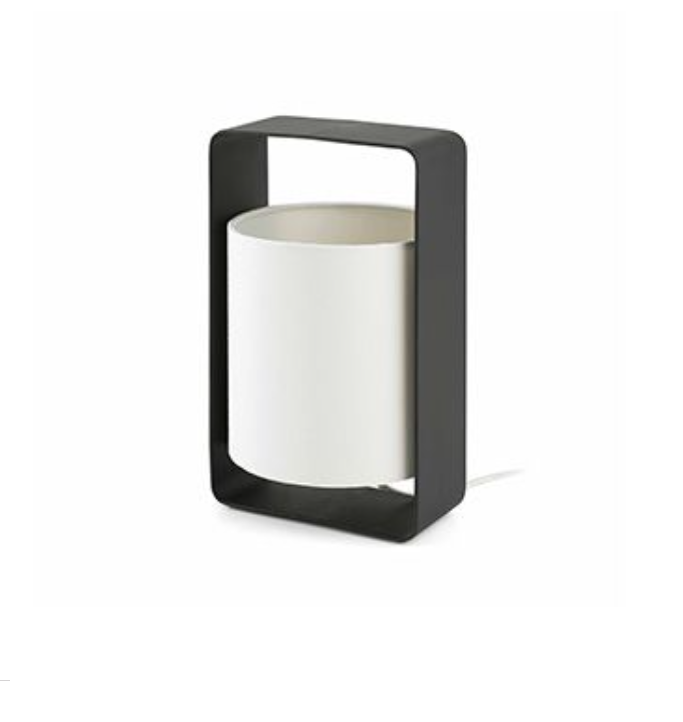 Lula P Table Lamp E27 20w Black lampshade beige