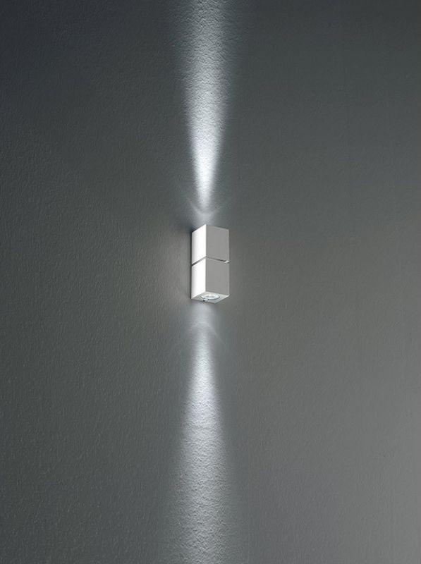 Miniblok W 10 Wall lamp MR8 G4 2x20w Glossy Aluminium