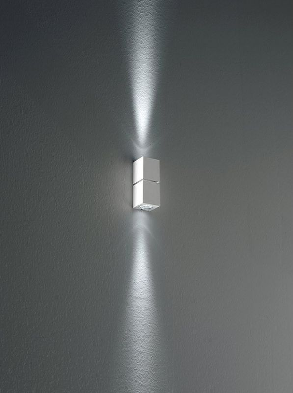 Miniblok W 10 Wall lamp LED 2x3w Glossy Aluminium