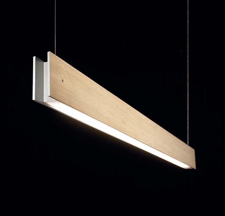 Marc W70 Aplique una luz G5 1x24w Madera roble dimer