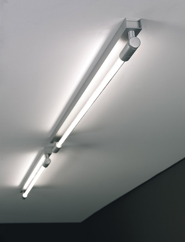 Roof C/W I 130 Wall lamp/ceiling lamp G5 1x54w Aluminium Satin + Dimmer