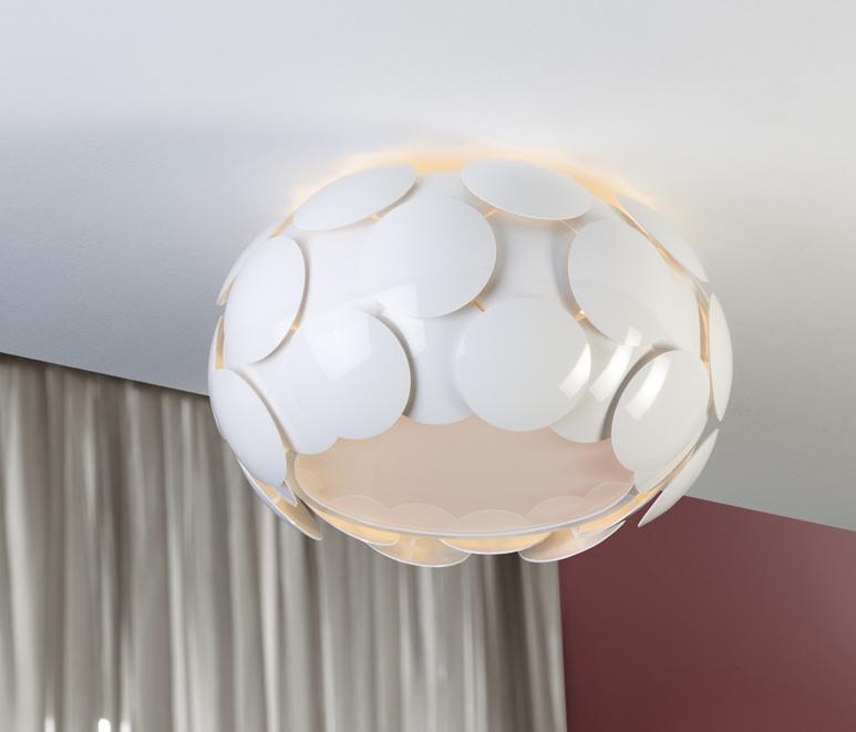 Egea deckeleuchte ø50 6xE27 LED 10W weiß