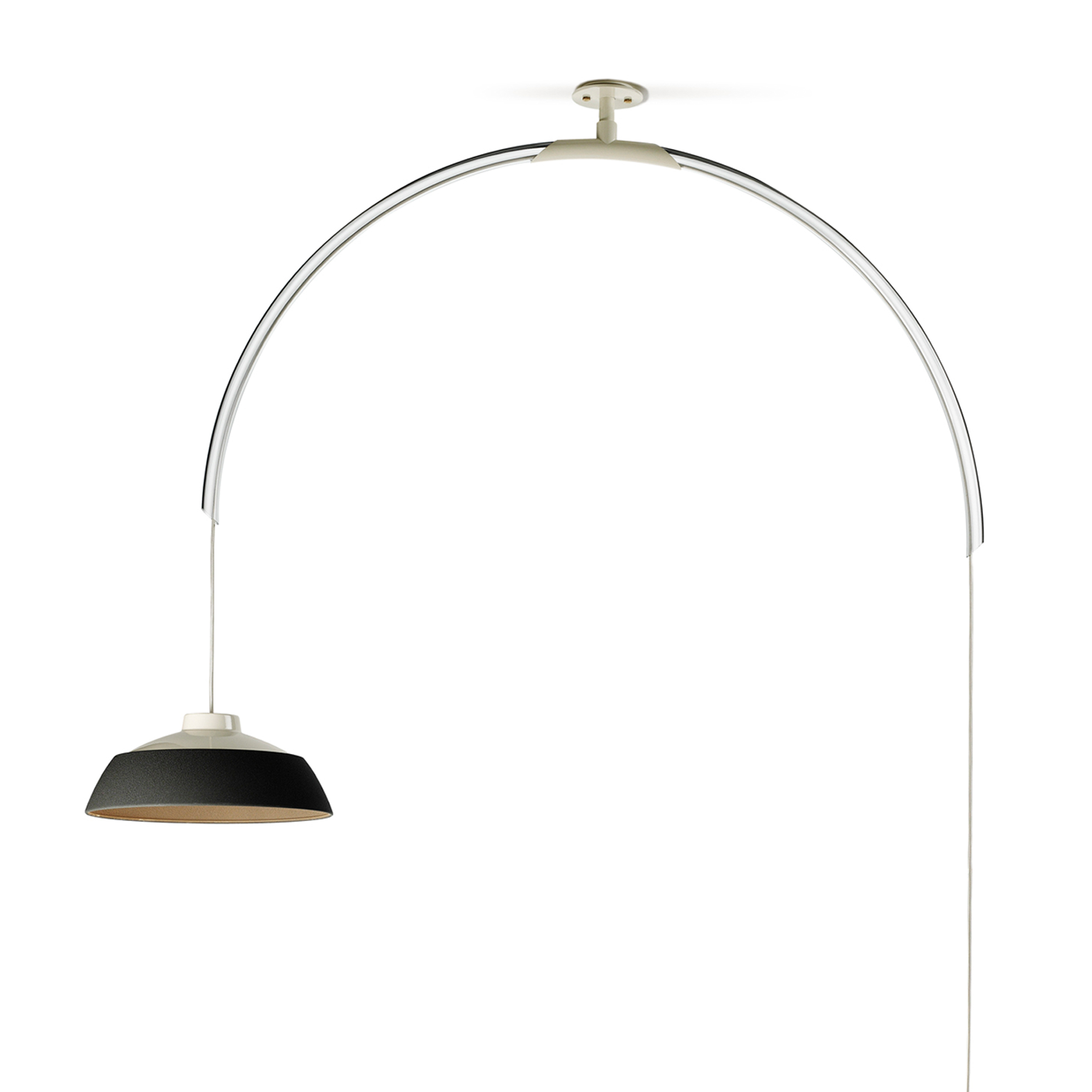 Mod 2129 Lampe Suspension LED 25W Blanc Gris