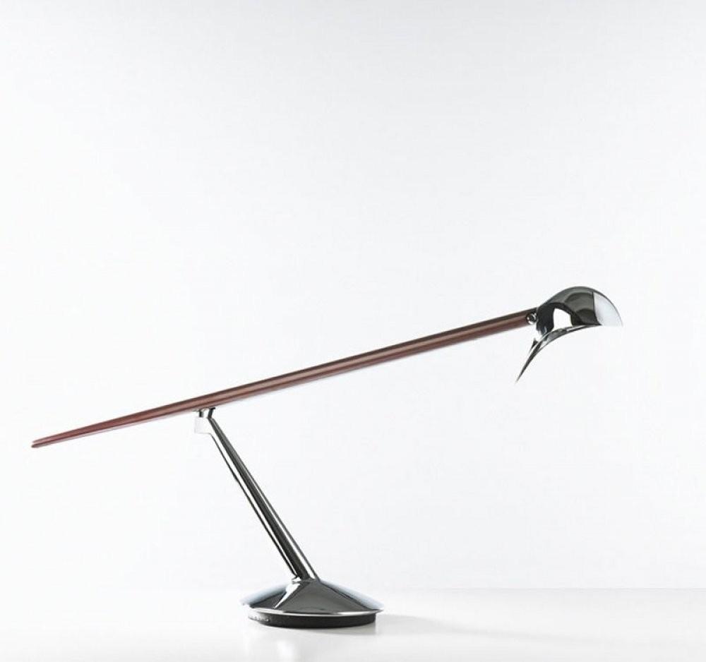 BlueBird T Table Lamp 50W 12V (G6,35) - Chrome caoba
