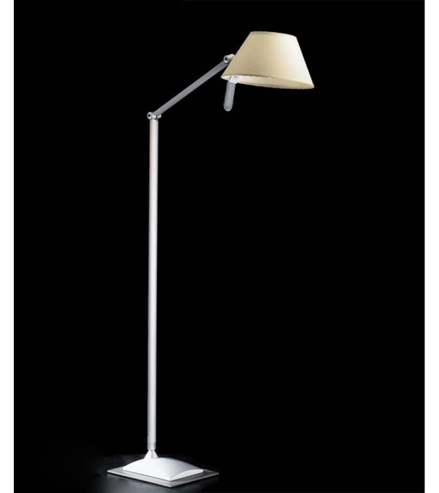 Petite P12 lámpara of Floor Lamp 96cm E27 1x52w Aluminium Mate