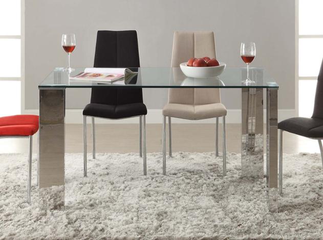 Malibu mesa de comedor 140x80cm Acero