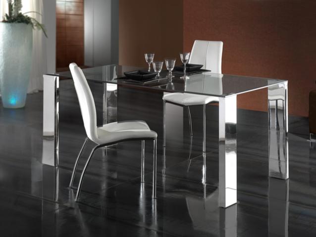 Malibu dining table 140x80cm steel