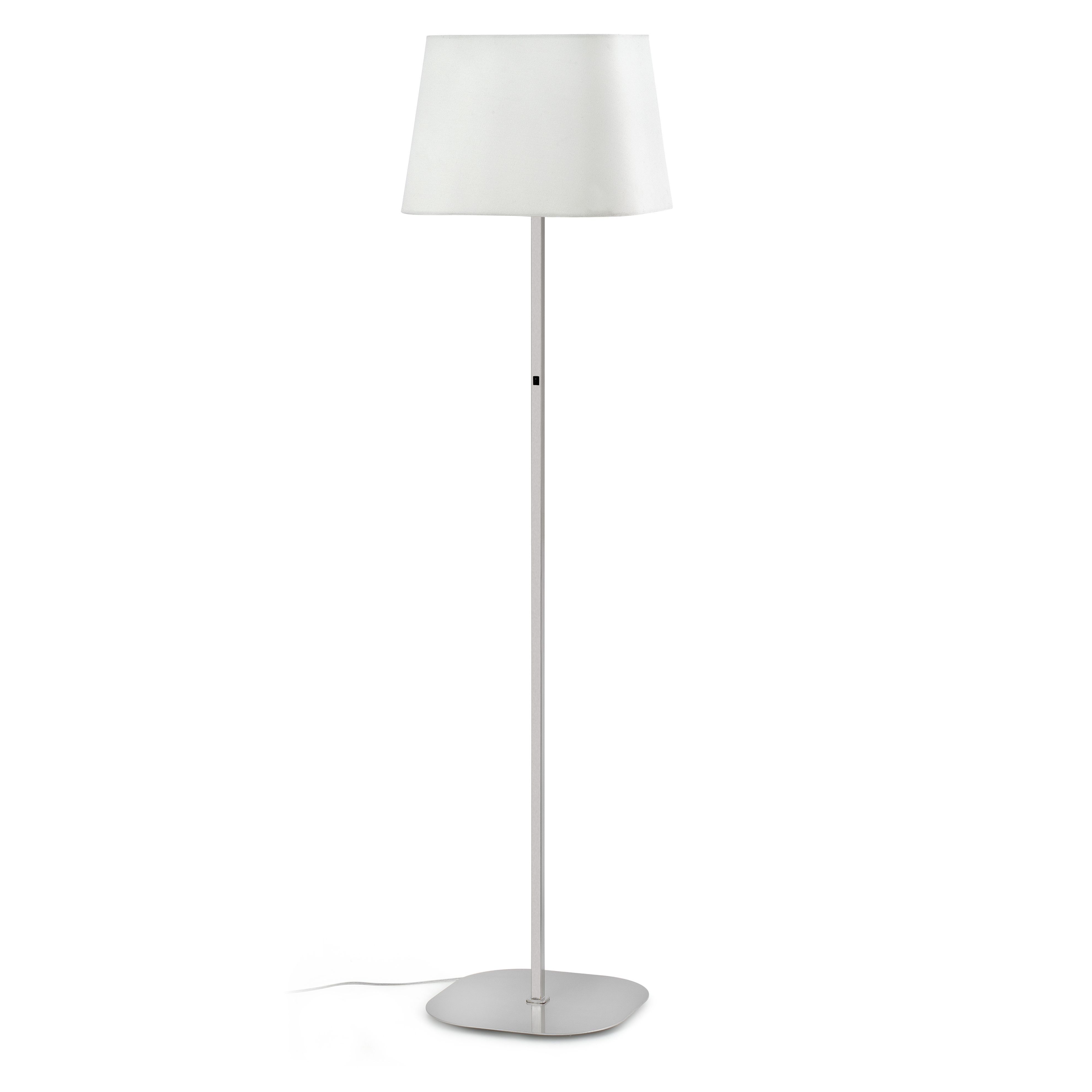 Sweet Floor Lamp E27 20w - Nickel Matt lampshade white