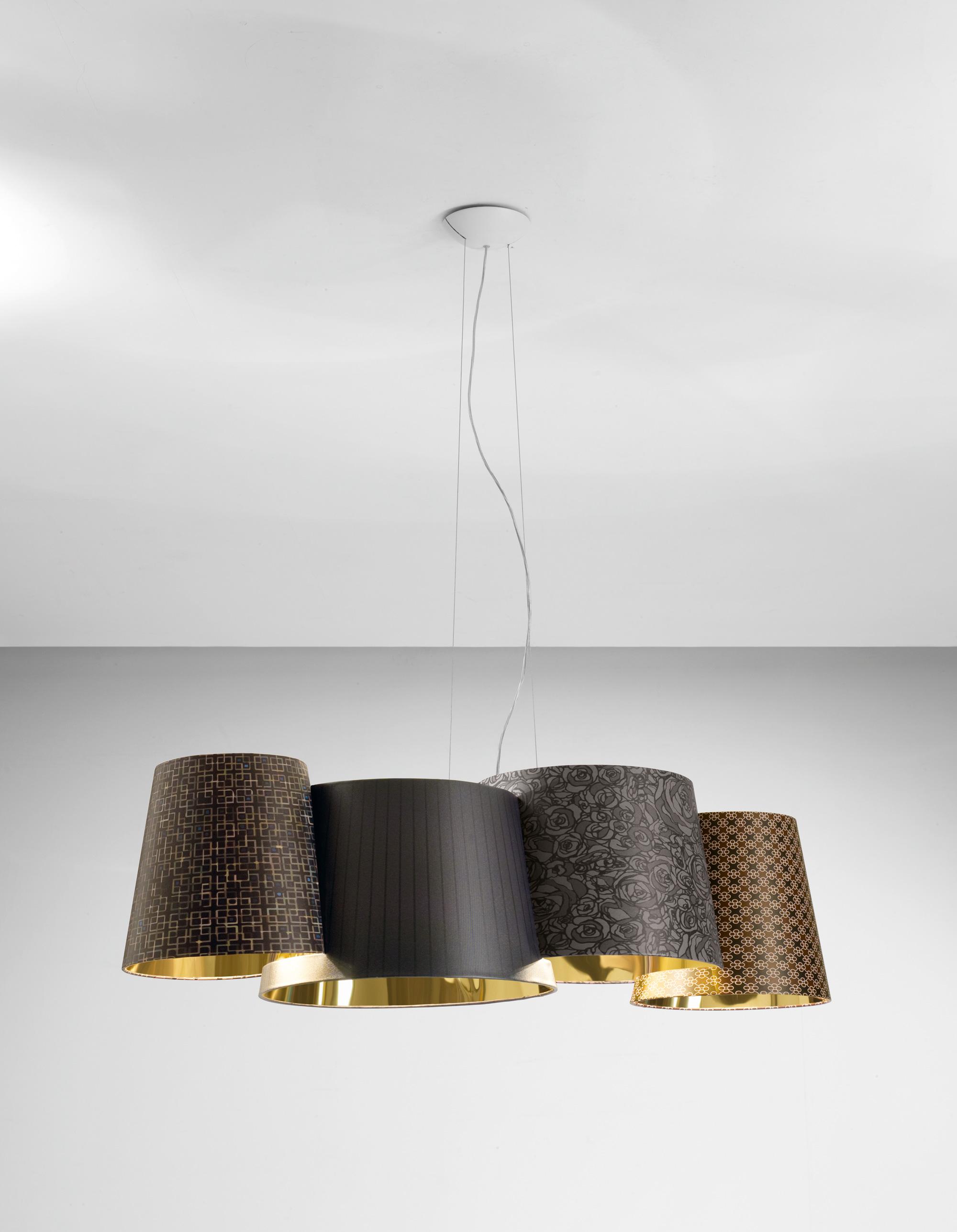 Melting Pot Pendant Lamp 115 E27 4x70W Halo Outdoor fantasías oscuras/indoor Gold