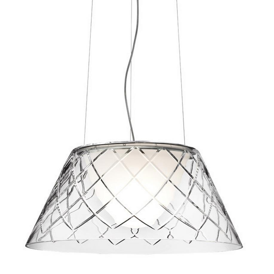 Romeo Louis II 2 Pendant Lamp ø50cm 150W E27 Glass soplado Amolado