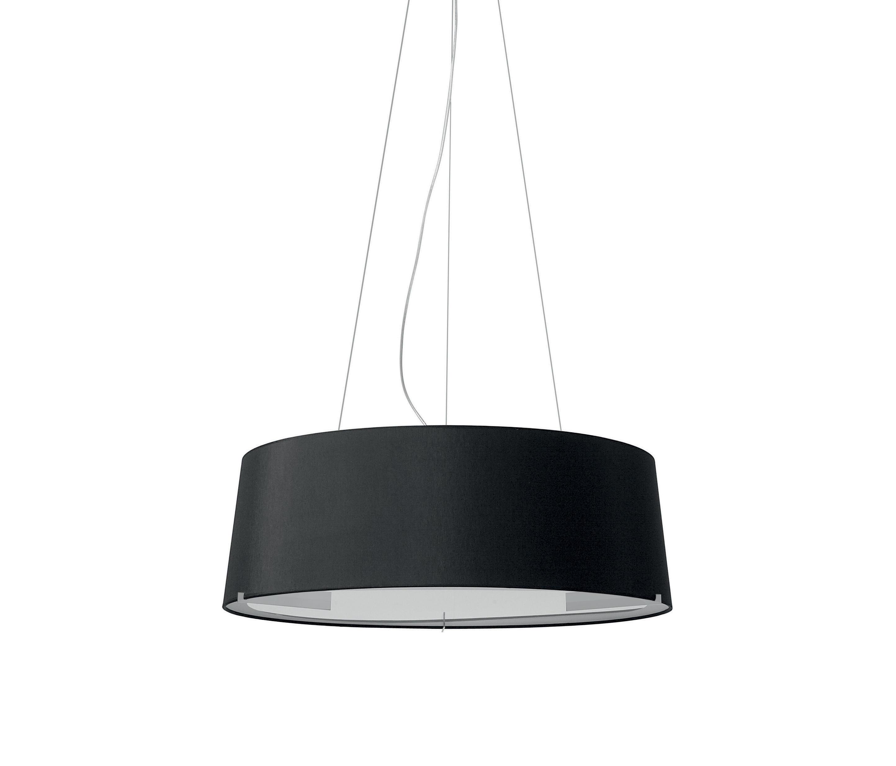 Aitana Lámpara Colgante ø75cm plomo metalizado pantalla Negra