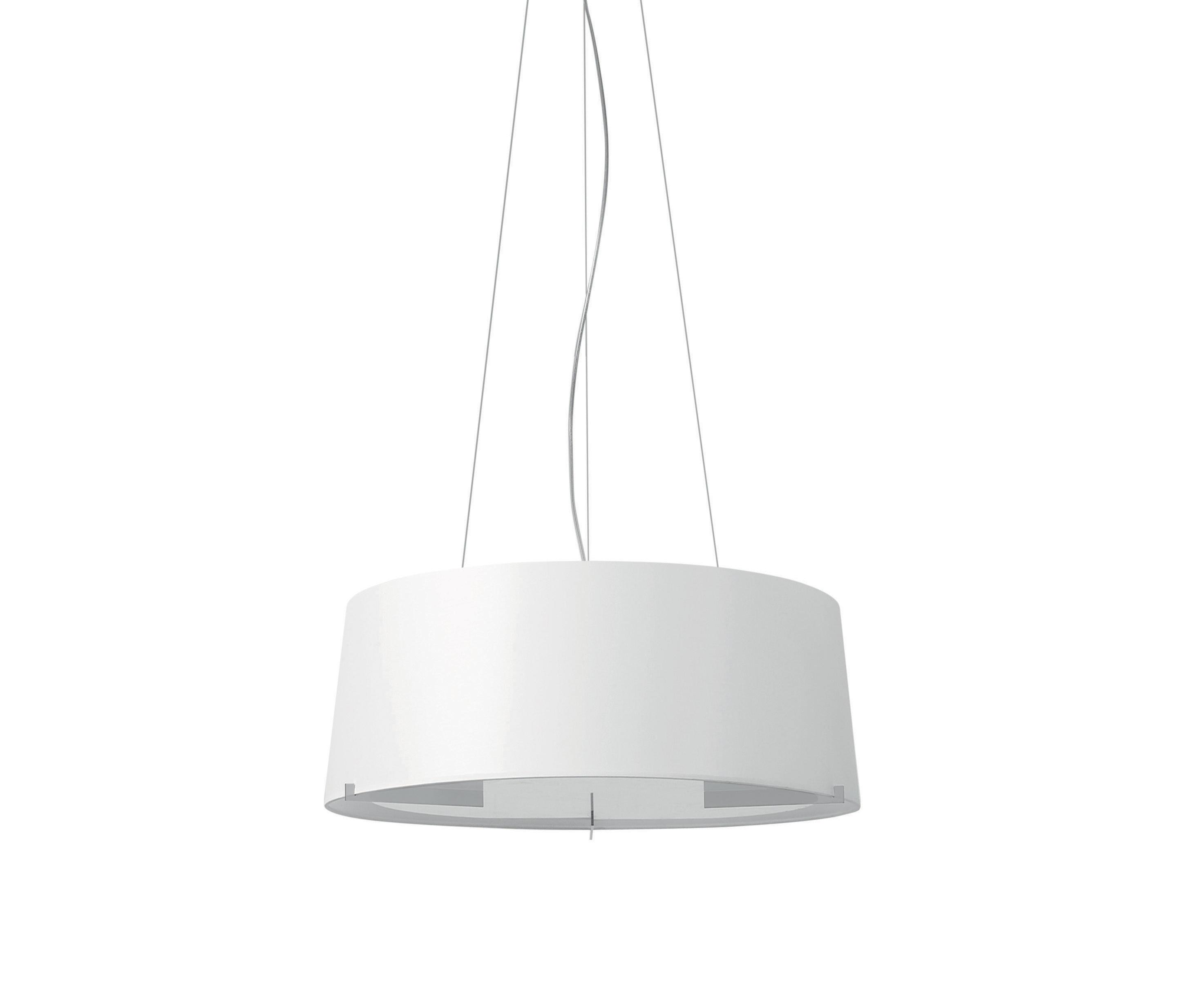 Aitana Lámpara Colgante ø59cm plomo metalizado pantalla blanca