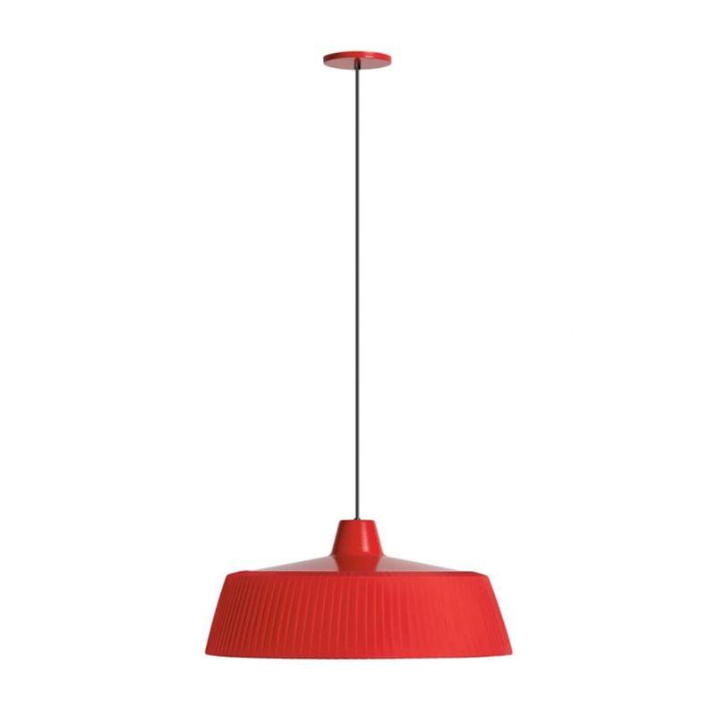 Woody Lámpara colgante E27 2x22W Rojo