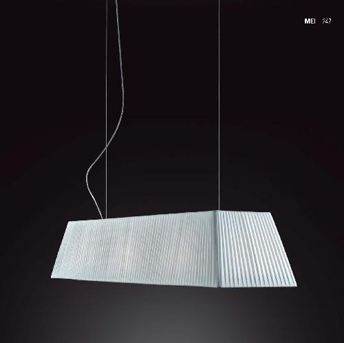 Mei - 180 (Solo Estructura) Lámpara Colgante sin pantalla E27 11w Níquel Satinado