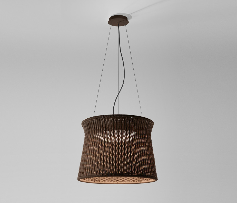 Syra - 60 Outdoor Lamp Pendant Lamp LED 22w Brown chocolate