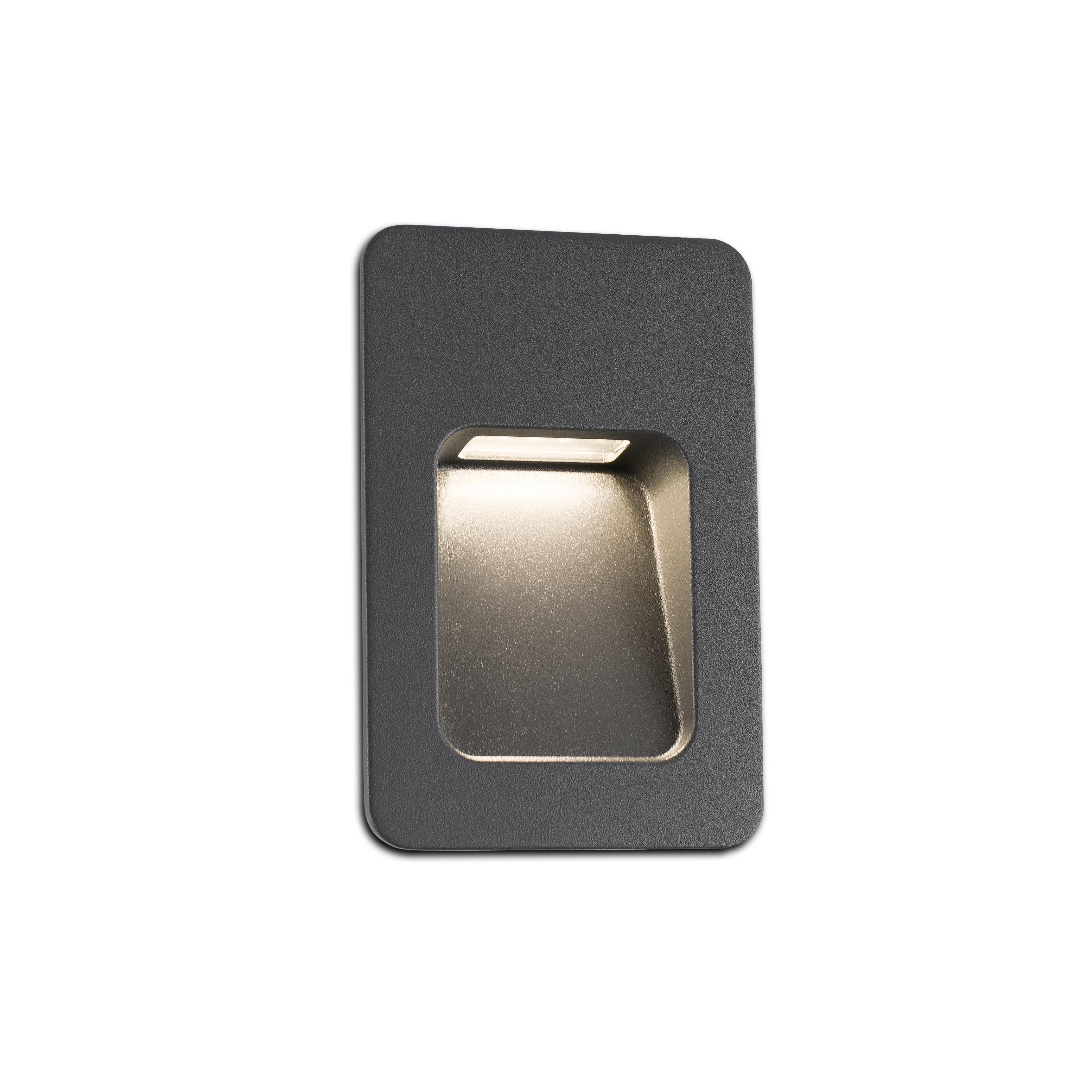 Nase 2 Empotrable Exterior LED 3W 3000K Gris Oscuro