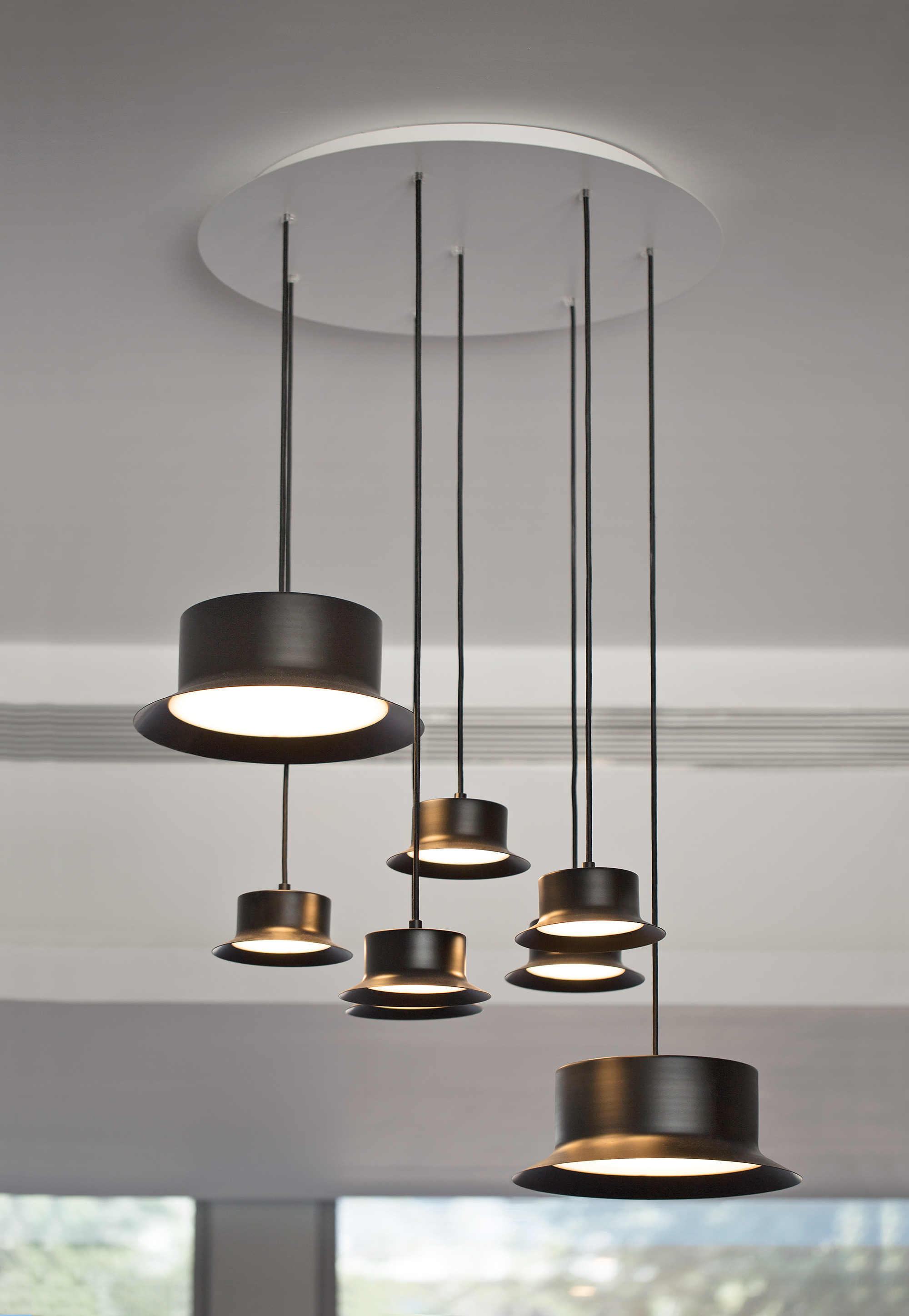 Maine lamp Pendant Lamp with floron metalico Black