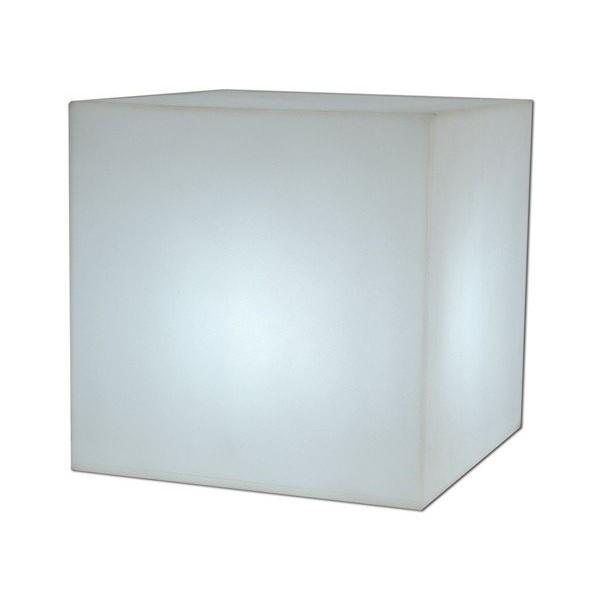 Cuby 32 Cubo iluminado Exterior luz fría 32x32x32cm