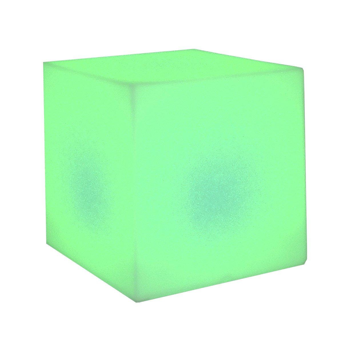 Cuby 45 Cubo iluminado Exterior bateríaa recargable LED RGB 43x43x43cm