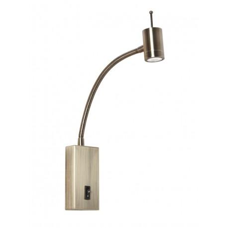 Aplique Cabecero LED brazo flexible 3W cuero viejo