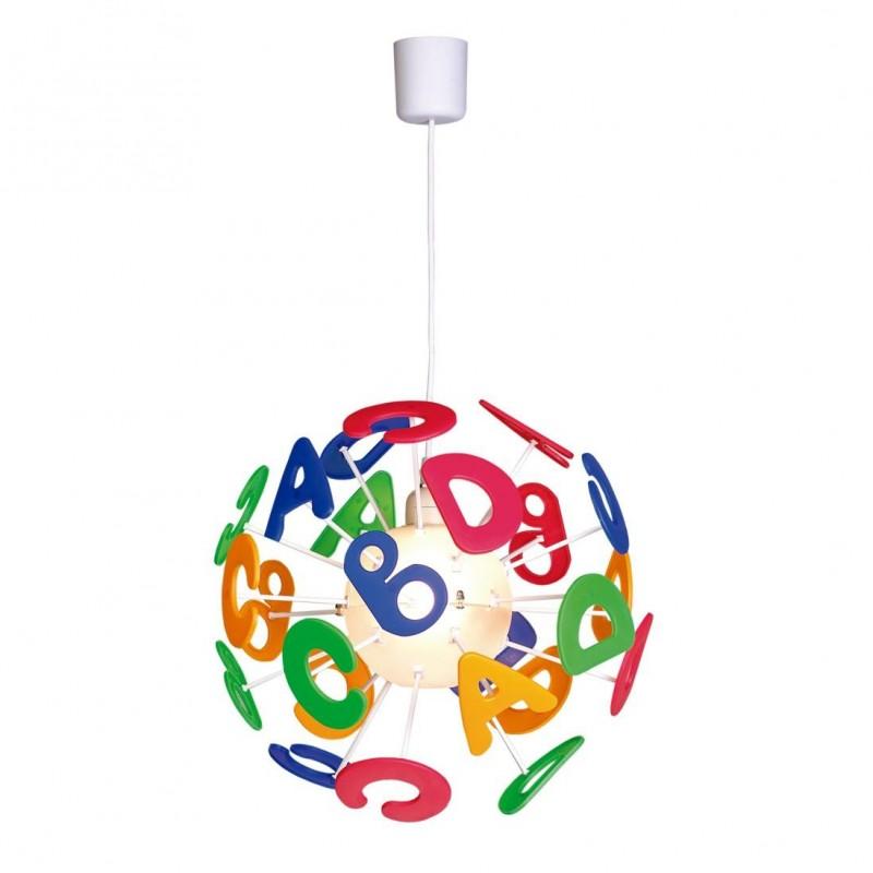 Letras Lámpara Colgante Infantil multicolor 4L E14 40W