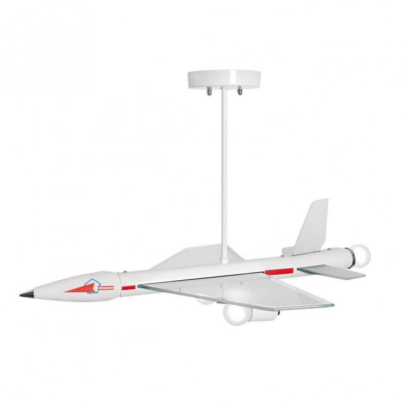 Supersonico Avion Lámpara Colgante 3L E14 40W