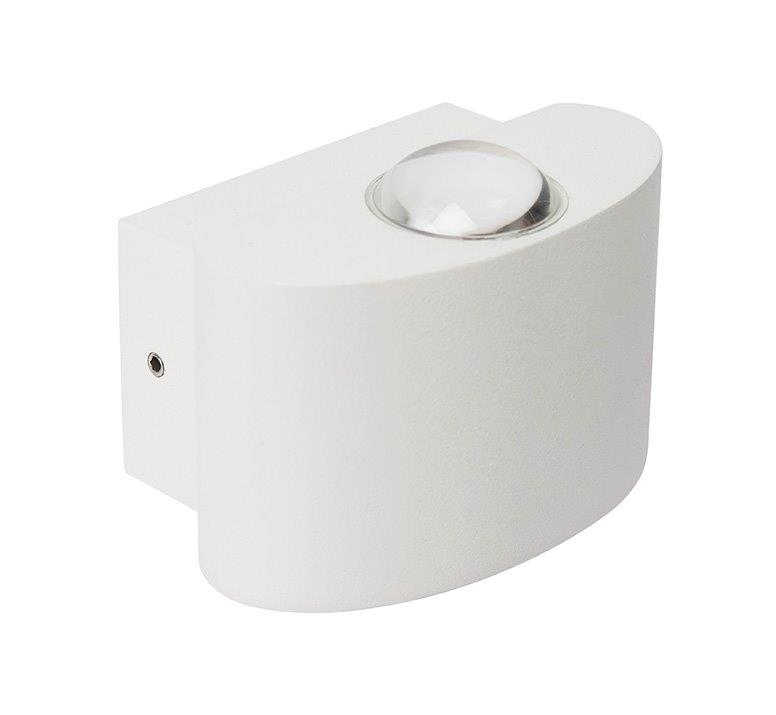 IrisBubble Aplique Exterior Aluminio acrílico 2x1W IP54