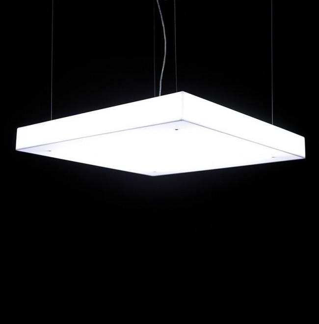 Box S70 Lámpara Colgante regulable Fluo 4x14/24W (G5) - blanco opal