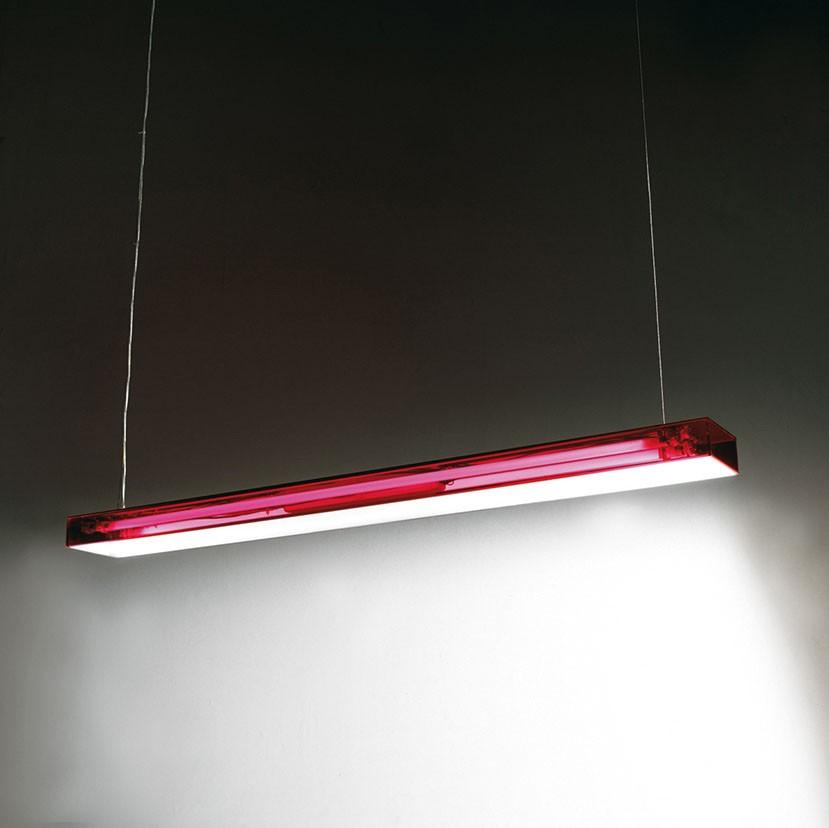 Box S120 Lámpara Colgante regulable Fluo 2x28/54W (G5) - Rojo