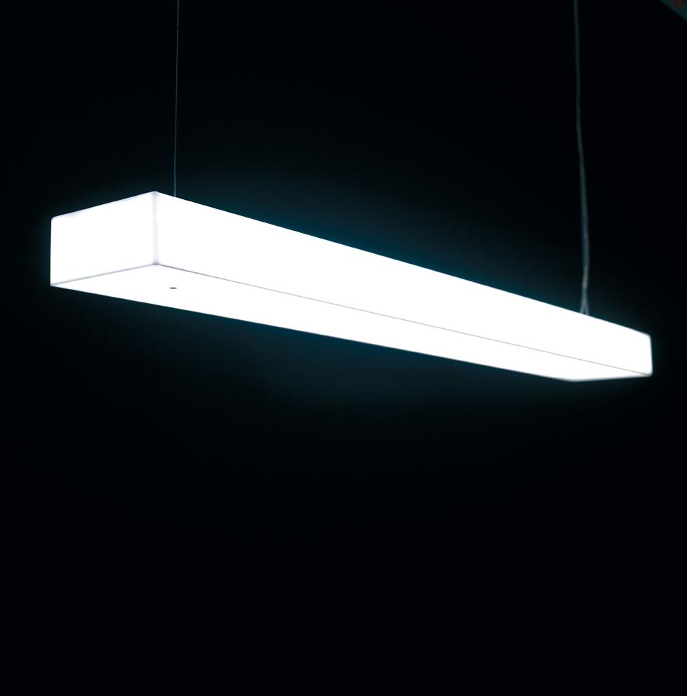 Box S120 Lámpara Colgante regulable Fluo 2x28/54W (G5) - blanco opal