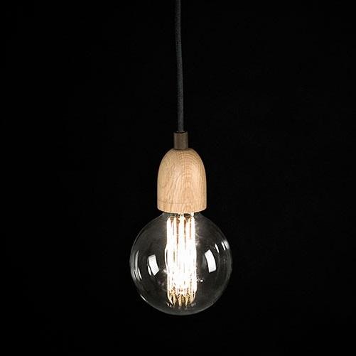 Ilde Wood S1 Lamp Pendant Lamp G125 18W E27 - Wood roble