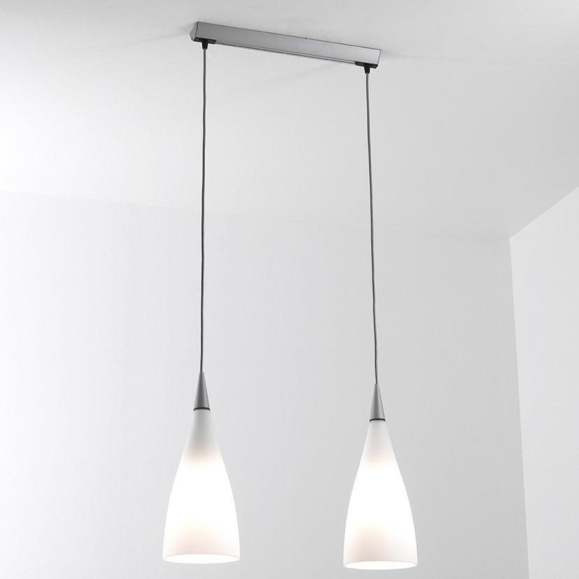 Nite S2 Lámpara Colgante 2x11W E27 - Cristal gris