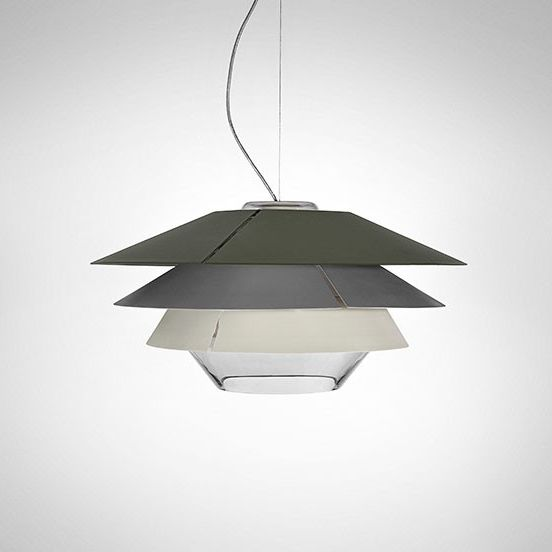 Overlay S25 Lamp Pendant Lamp G9 60W - Glass Grey
