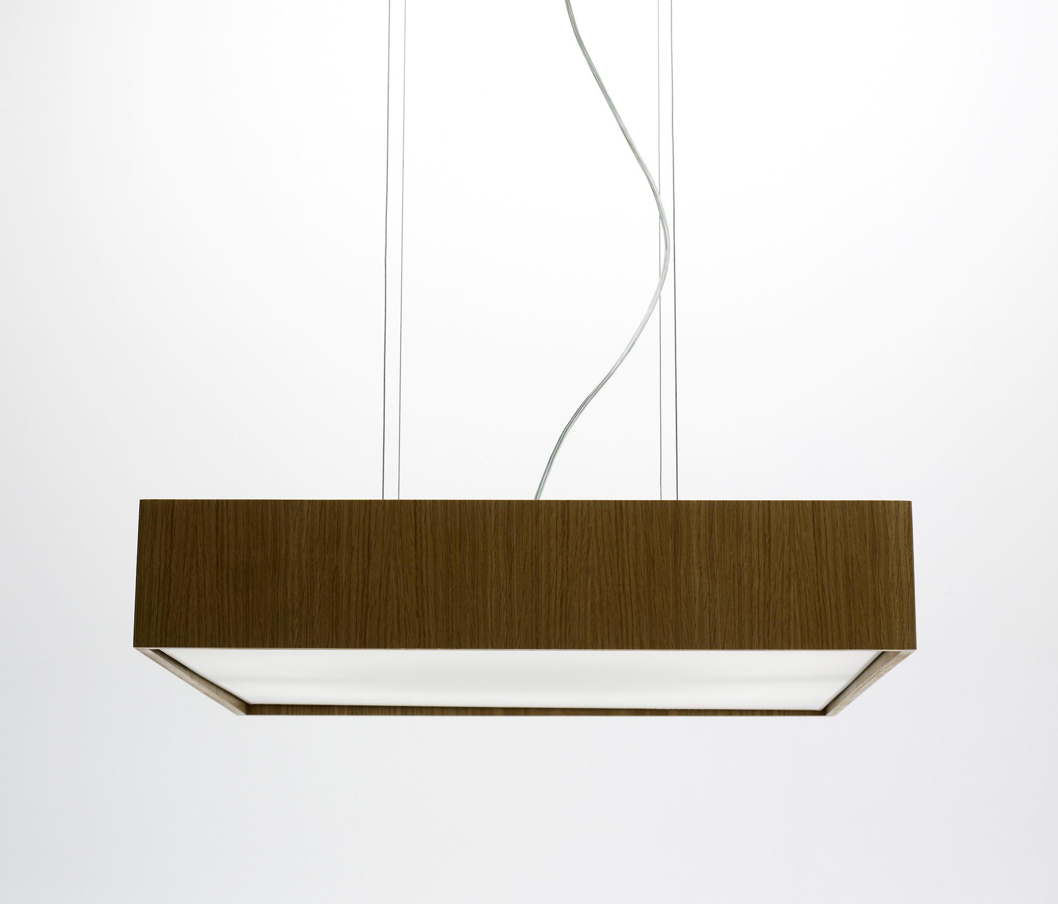Quadrat S60x60 Lampe Suspension LED 4x12,4W - Bois roble