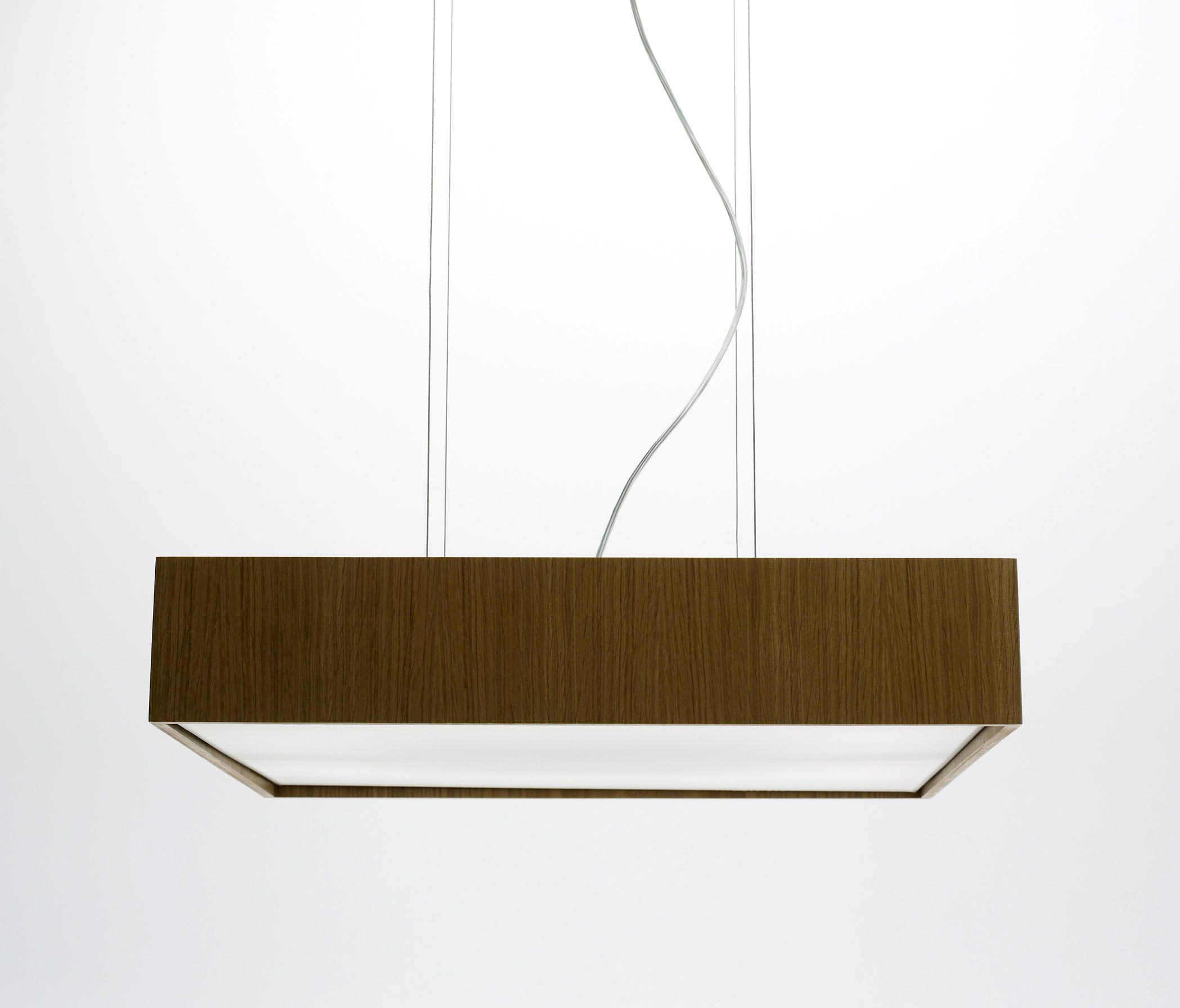Quadrat S60x60 Lampe Suspension LED 4x12,4W - Bois wengue