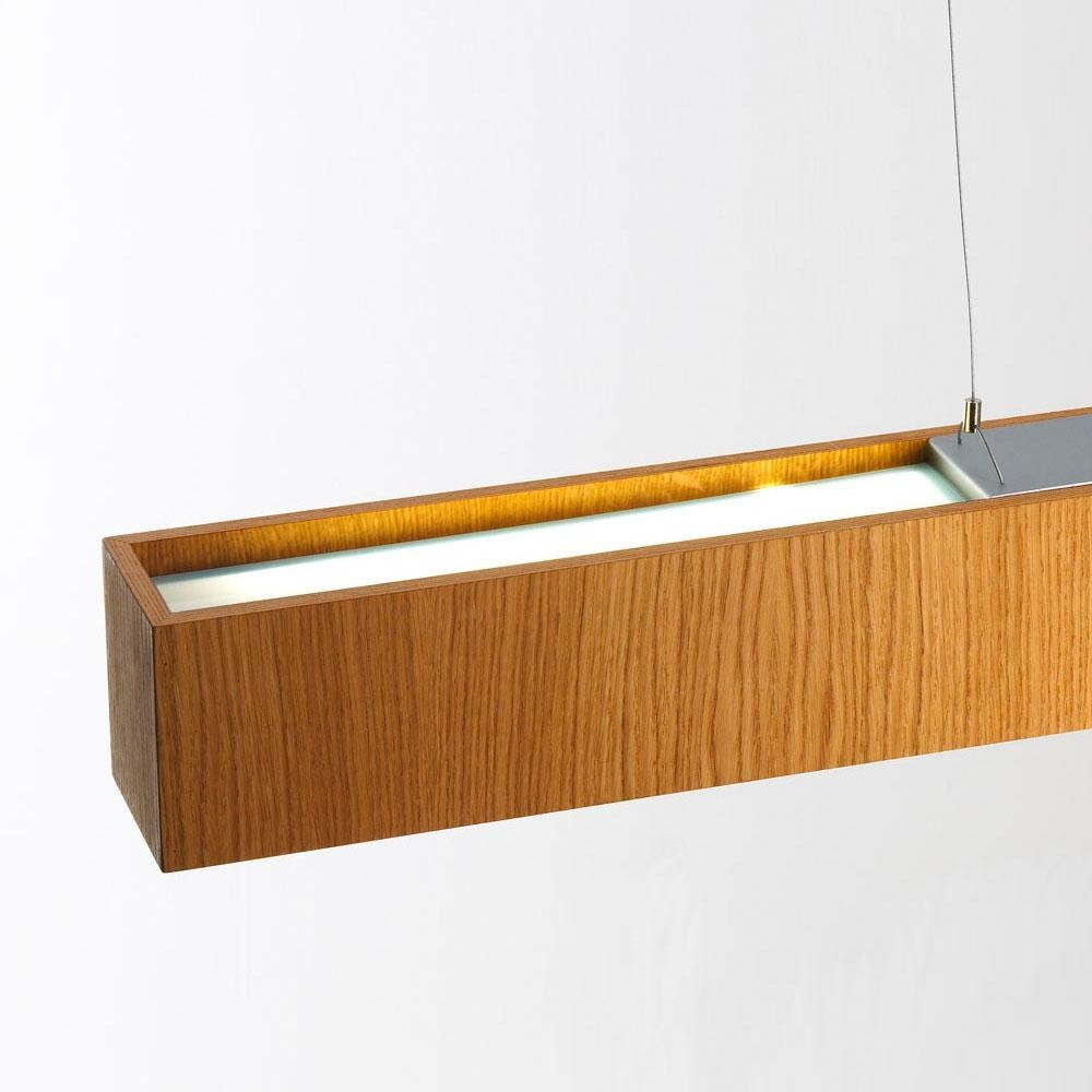 Quadrat S120x10 Lámpara Colgante LED 2x12,4W - Madera roble
