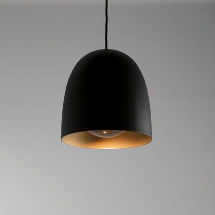 Speers SR1 Lamp Pendant Lamp LED 9W - Black Shiny, latón Satin