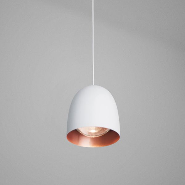 Speers SR4 Lámpara Colgante LED 4x9W - blanco Brillante, Cobre Satinado