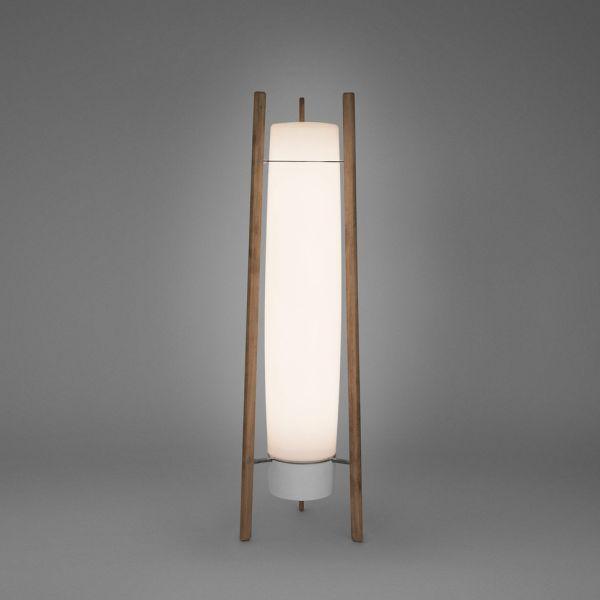 Inn Side Lámpara de Pie Exterior Fluo 2x35/49W (G5) - Blanco opal Estructura Madera