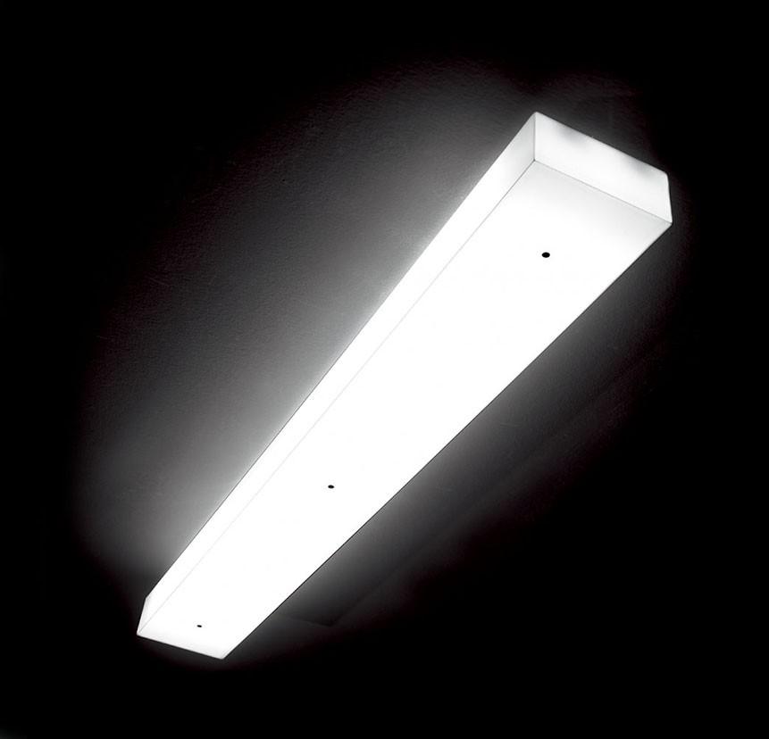 Box C120 Plafón regulable Fluo 2x28/54W (G5) - blanco opal