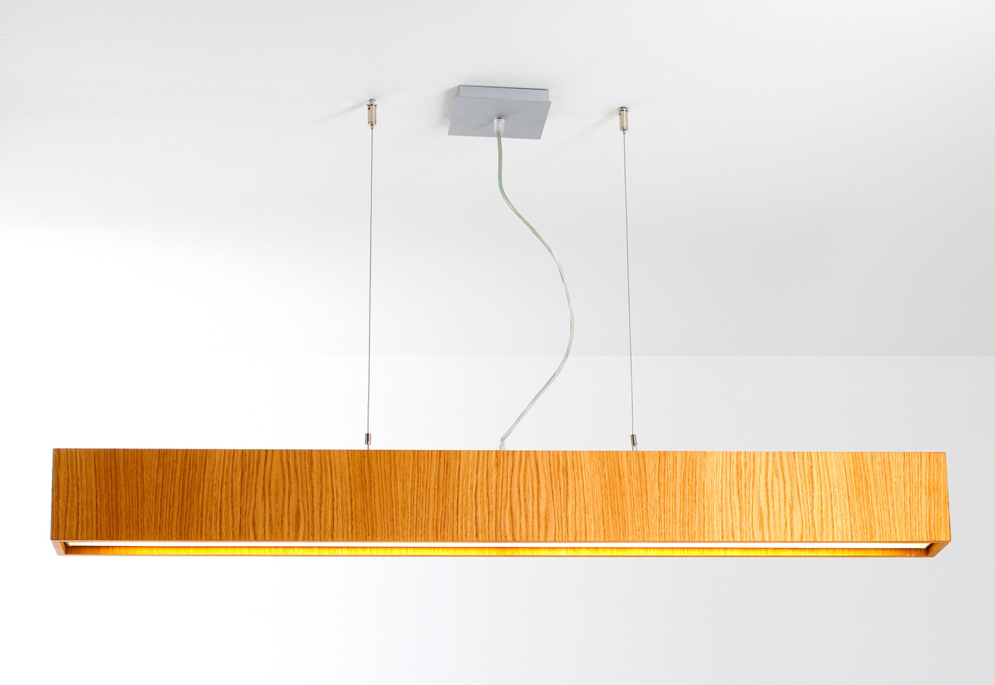 Quadrat C60x60 Plafón LED 4x12,4W - Madera wengue