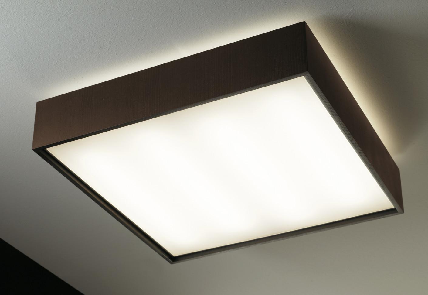 Quadrat C120x120 Plafón LED 6x24,8W - Madera wengue