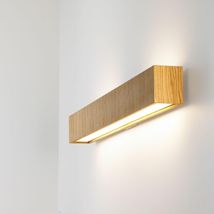 Quadrat W Aplique LED 2x12,4W - Madera roble