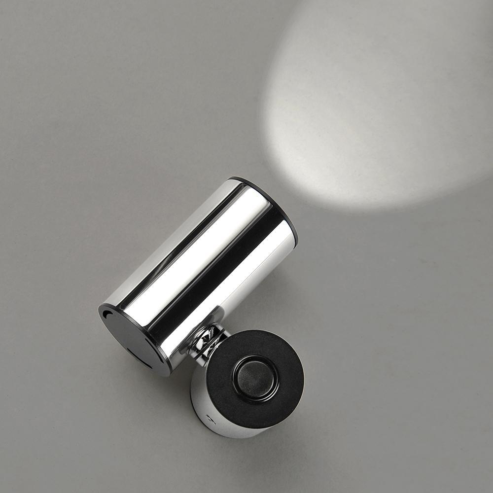 Tub LED APLIQUE 1 L.LED 4W.ACERO INOXx