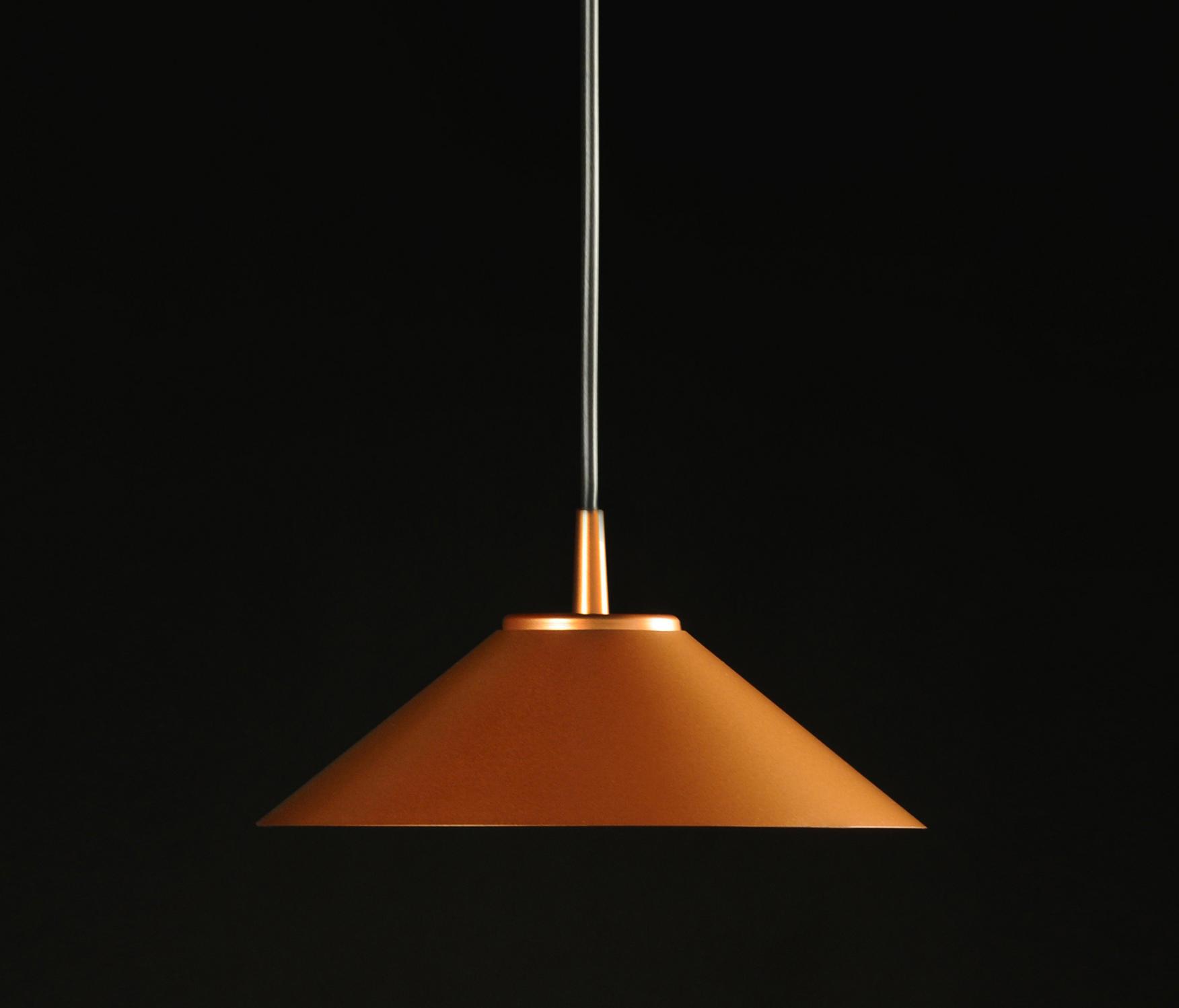 Hat Lámpara Colgante 225Ø 7W Lacado cobre