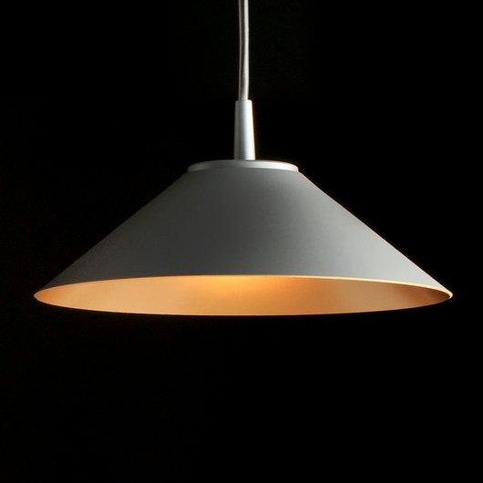 Hat Lámpara Colgante 365Ø 11W Lacado gris antracita con lacado dorado interior